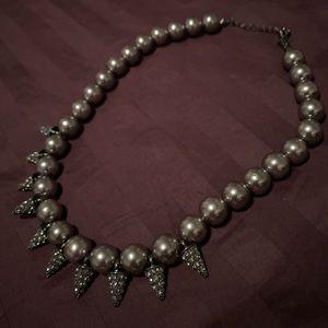 Jewelry - Gunmetal spike statement necklace